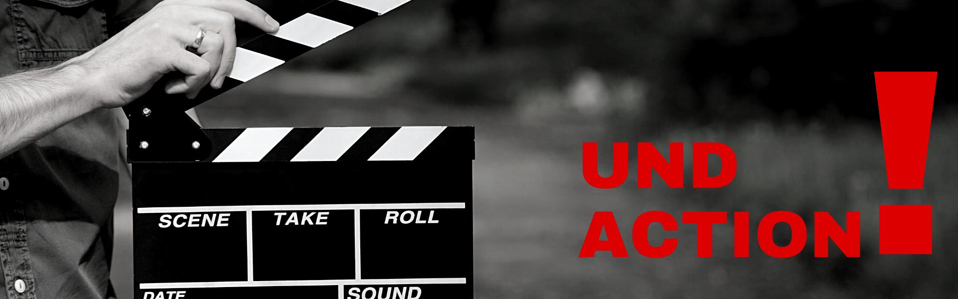 Und Action. Filmklappe. SIGG Zeit zum Handeln Projekte live Aktionsverkauf Abverkauf Räumungsverkauf Jubiläumsverkauf