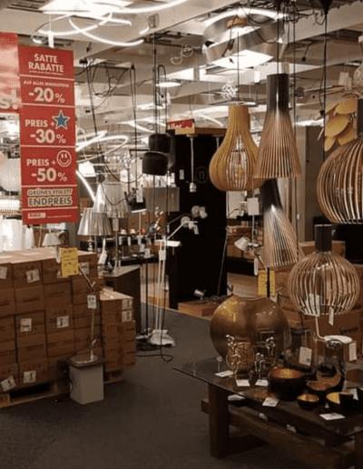 Räumungsverkauf Schließung Totalausverkauf Totalabverkauf Lampen Leuchten Warenaufbau Rabatt